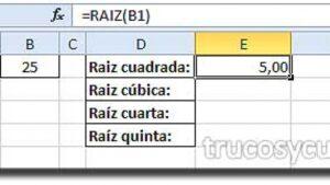 ✔ Como calcular la raíz de un número en Excel 🤷♂️