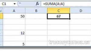 ✔ Sumar toda una columna Excel ➕